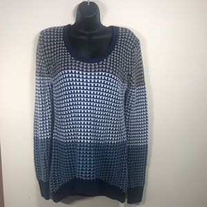 POOF! Knitted Scoop Neck Sweater, Size Medium.